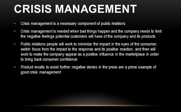 Of public relations Crisis