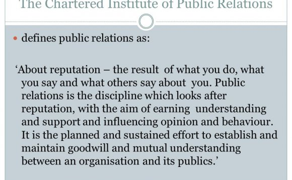 Why study Public Relations?