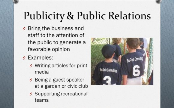 Publicity Relations and Publicity in Marketing