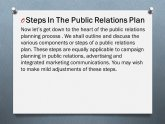 Public Relations Planning process