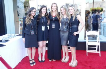 Val and her team at the Leica Store LA opening event